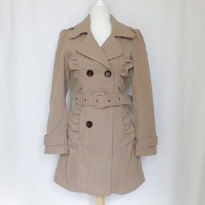 Arden B Tan Brown Belted Trench Coat  size XS